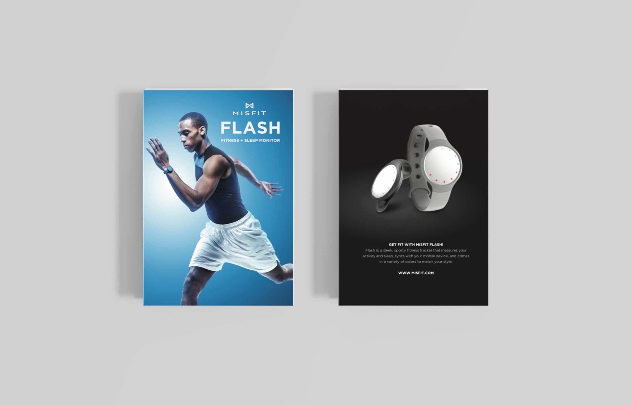 Misfit Flash Brochure, Front + Back Cover
