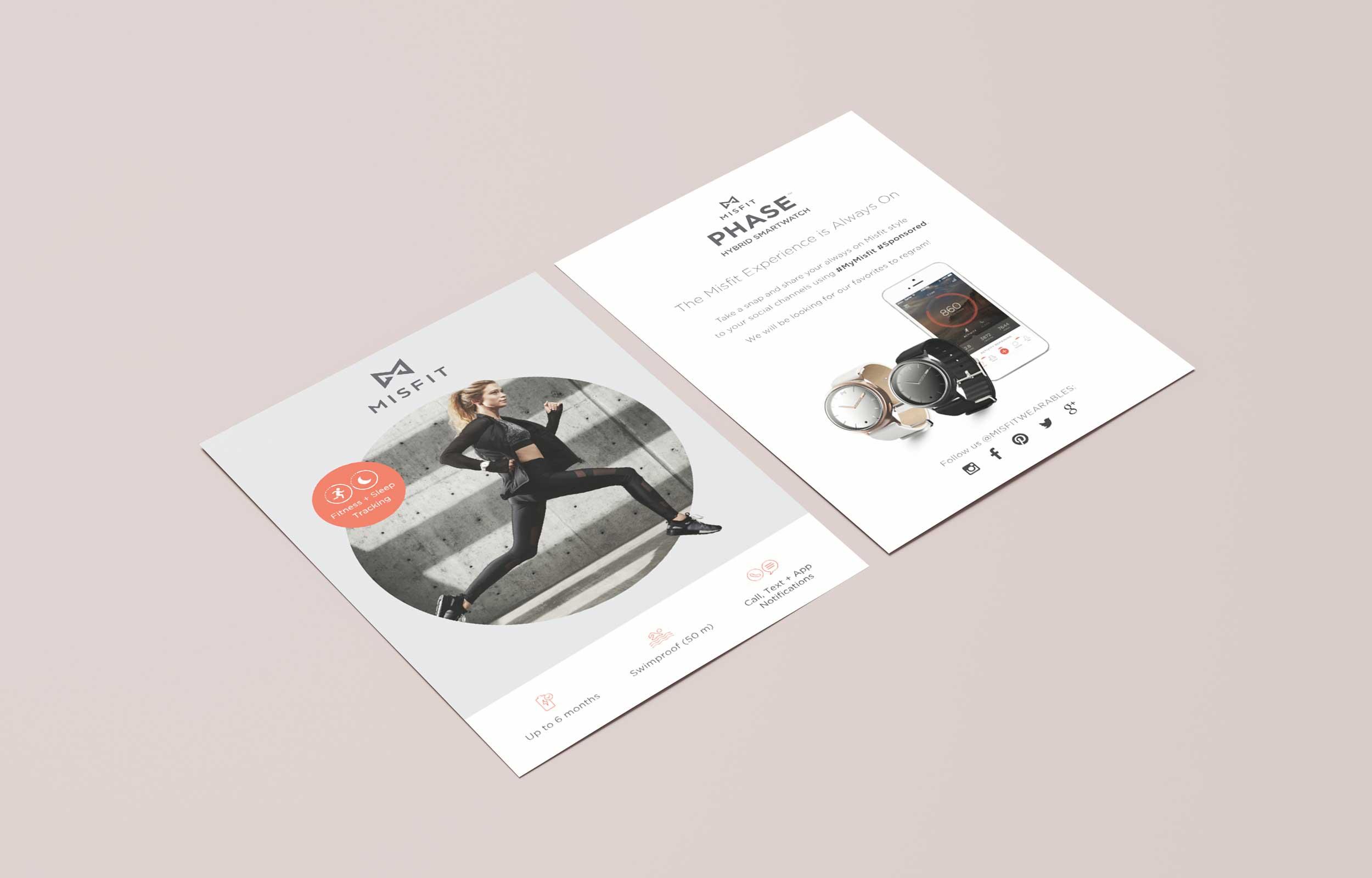 Misfit Cards for Influencers, Misfit Phase Front + Back